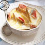 Sopa de almejas chilenas al queso de Pago