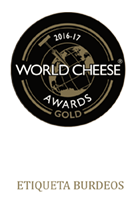 World Cheese Gold 16-17 Etiqueta Burdeos