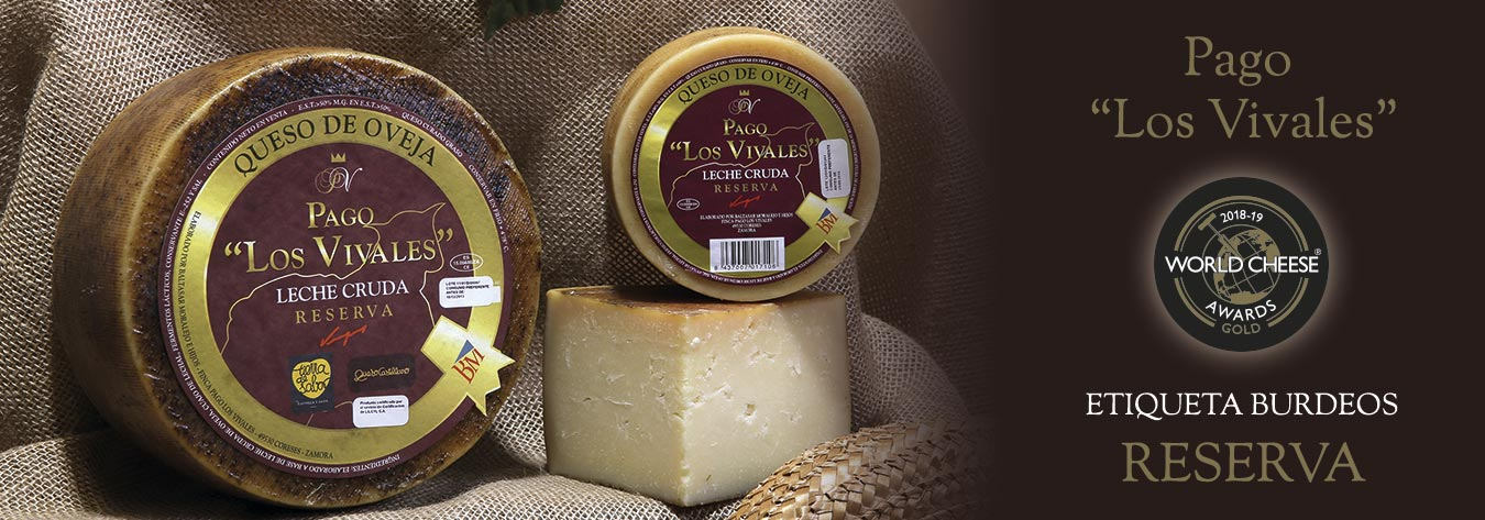 "Queso Reserva Etiqueta Burdeos Pago ""Los Vivales"" Medalla de Oro World Cheese Awards 2018-19"