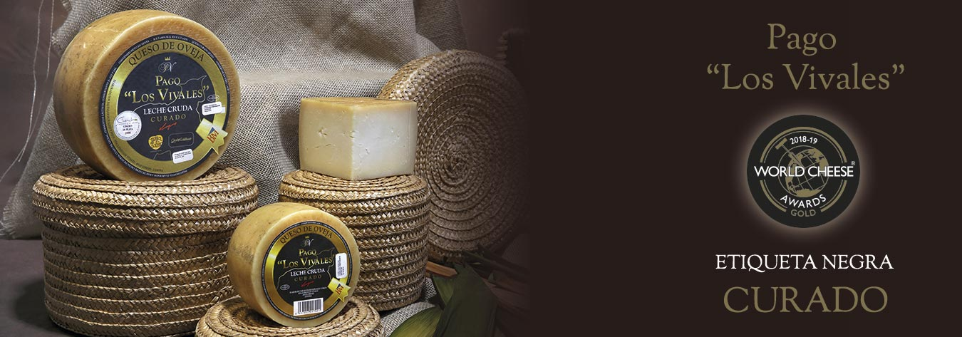 "Queso Curado Etiqueta Negra Pago ""Los Vivales"" Medalla de Oro World Cheese Awards 2018-19"