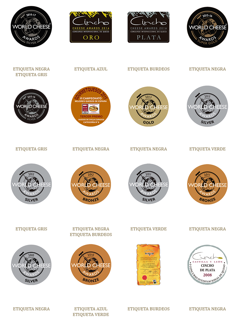 """Premios recibidos por los quesos Pago """"Los Vivales"""""""