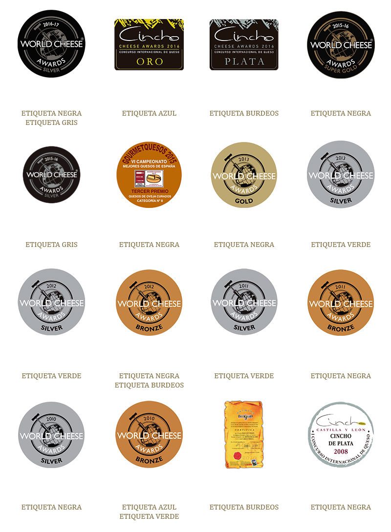 """Premios obtenidos por los quesos Pago """"Los Vivales"""""""