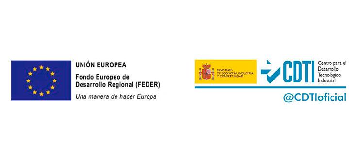 Centro para el Desarrollo Tecnológico Industrial (CDTI). Unión Europea. Fondo Europeo de Desarrollo Regional (FEDER)