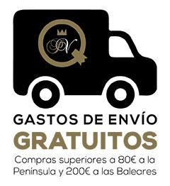 Gastos de envío gratuitos en compras superiores a 80€ en península y a 200€ en Baleares